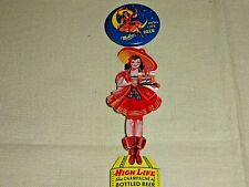 Miller High Life Beer Pin Back Button With Celluloid Hanger g982