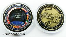 ISS FLOWN METAL 50 EXPEDITIONS INTERNATIONAL Space Station - NASA MEDALLION-COIN