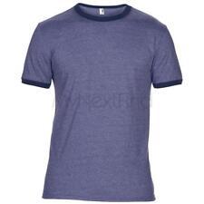 Anvil Mens Womens Fashion Basic Ringer T-Shirt