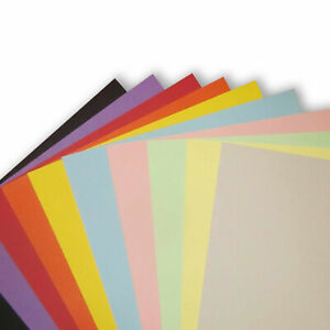 A7, A6, A5, A4 210-250gsm Coloured Card for crafting