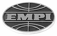 Empi globe badge, die cast. vw beetle
