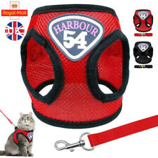 More details for adjustable dog puppy pug harness cat pets soft mesh lead leash vest quality new