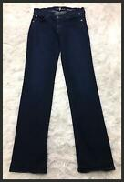 7 For All Mankind blue Women's straight leg Denim Jeans Size 25