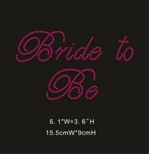 Hot Pink Rhinestone Crystal Iron on T Shirt Design - Bride to Be - XRST042