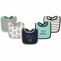 Hudson Baby Drooler Bib, 5-Pack, Outer Space