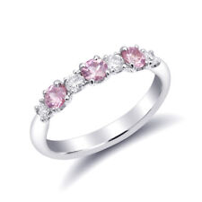 Natural Pink Sapphires 0.57 carats set in 18K White Gold Ring