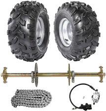 "1"" x 32"" Go Kart Rear Live Axle Kit Brake Caliper Sprocket Wheels Golf Cart Atv"