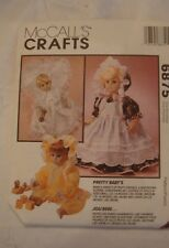 McCall's Crafts #6875 Pretty Baby's Party Dresses, Nightgown,& More SML uncut