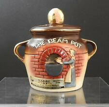 """Vintage Ceramic Brown The Beam Pot Shaped Collectible Bottle About 7"""" B11"""