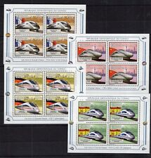 Congo - Locomotives of China France Spain on stamps - MNH** M107