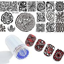 BORN PRETTY Nail Art Stamping Plate Water Marble Image Stamp Stamper Scraper Kit