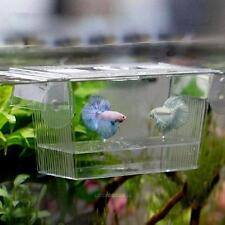 Pet Aquarium Fish Tank Guppy Double Breeding Breeder Rearing Trap Box Hatchery #