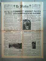 Fac similé Journal - LE MATIN 22 AOÛT 1940