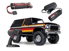 TRAXXAS trx-4 Ford Bronco XLT 1/10 scale Crawler RTR + BATTERIA + Caricabatterie #82046-4s2