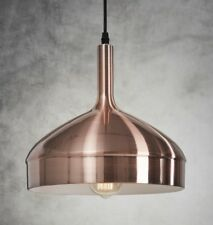 Vintage Retro Brushed Matt Copper Ceiling Pendant Light Loft Cafe Bar Kitchen