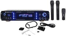 Rockville RPA7000UWM 1000w 2 Chan Pro/Karaoke Amplifier/Mixer w/(2) VHF Mics+USB