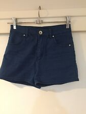 Riders By Lee Ladies Blue Denim High Waisted Jean Shorts Size 6 Good Condition