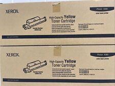 Lot Of 2 Xerox Phaser 6360 High Capacity Yellow Toner Cartridge 106r01220
