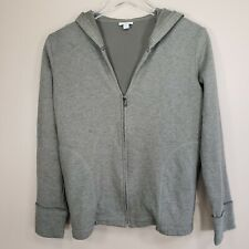 J Jill Sage Green V Neck Zip Up Hoodie Size Petite Small PS