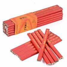 10pcs Carpenter Pencils Woodworking Marking Tool Black Edge Builders Joiners