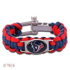 Houston Texans Paracord Football Bracelet Big Man X Lg No Drop Ship Fast USA
