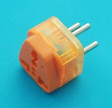 Universal USA UK to Round Pins Israel Travel Adapter AC Power Plug Surge