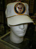 US NAVY BASEBALL CAP - WHITE - MADE IN THE USA