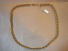 CHAINE PLAQUE OR MAILLE LARGE LONG 50 CM 27 G VINTAGE NEUF/NEW GOLD PLATED CHAIN