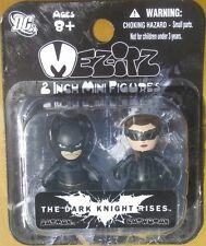 DC Dark Knight Rises 2 Inch Mezitz 2 paks Batman / Catwoman Action Figures NEW