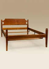 Shaker Bed Frame - Cherry Wood - Queen Size Low Post Bed - Bedroom Furniture