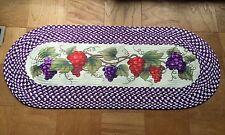 Braided Country Grapevine Grape Fruit Vineyard Kitchen Rug Runner Decor