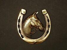 Lucky Horse shoe Ornament Decor Wall hanging decor HORSESHOE  Brass color #1