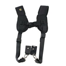 Adjustable Double Dual Shoulder Belt Harness Holder Camera Neck Strap DSLR SLR K