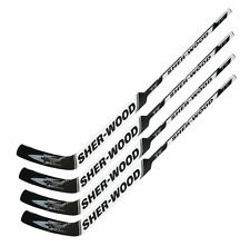 "4 Sherwood T70 composite goal stick left 24"" PP30 white new int hockey goalie"