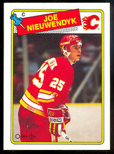 1988 89 OPC O PEE CHEE 16 JOE NIEUWENDYK RC NM CALGARY FLAMES HOCKEY rookie CARD