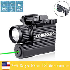 600Lm Hunting Green Red Laser Tactical Pistol Weapon Light Led Flashlight Combo