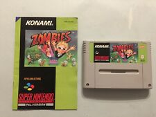 ZOMBIES SUPER NINTENDO SNES USATO CASSETTA E MANUALE PAL GERMANIA