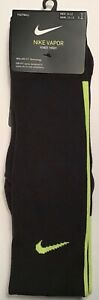 Nike Vapor Football Dri-Fit Knee High Sock Black Volt Green Men 8-12 Women 10-13