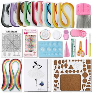 Paper Quilling Supplies Kit Strips Board Comb Crimper Tools Set DIY Craft Art
