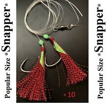10 Snapper Rigs Flasher Rig Bottom Reef Fishing Paternoster Hook 60lb Line New