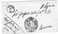 1861 franchigia da Forchia Caudina con annullo luogotenenziale Arpaja