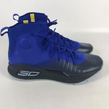 Under Armour Curry 4 Basketball Shoes Men's Size 12 Blue 1298306 401
