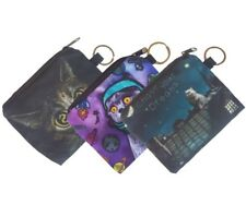 3x Animal Cat Photo Soft Cloth Purse Key Chain Coin Card Holder Give-aways Gifts