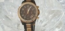 Michael Kors Madison Chronograph 39mm Tortoise and Gold Watch W/ Crystals (259)