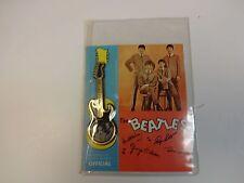 1964 The Beatles Guitar Pin Nems Unopened Press Initial Corp. Very Rare