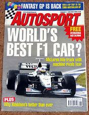Autosport 11/2/99* McLAREN MP4/14 LAUNCH - MINARDI TEAM PROFILE - GWYNDAF EVANS