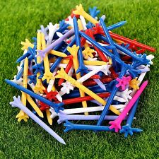 Approx. 100Pcs/bag 70mm Zero Friction 5 Prong Assorted Color Plastic Golf Tees