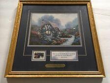 Thomas Kinkade Chandler's Cottage Gold Framed Art Print Coa Certificate 14 x 14