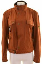 BELSTAFF Womens Bomber Jacket Size 16 Large Brown Cotton  BH13