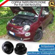 2 TAPPO COPRIFARO CUFFIA IN GOMMA FIAT 500 RESTYLING ANABBAGLIANTI PER LED, XENO